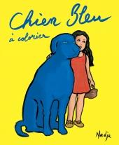 Chien bleu à colorier - Une histoire à colorier