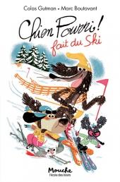 Chien Pourri ! fait du ski